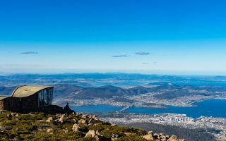 Vue panoramique du mont Wellington de Tasmanie